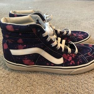 """RARE Vans High tope with """"bleached look"""""""